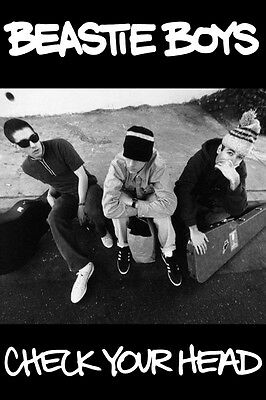 MUSIC ROCK RAP GROUP BEASTIE BOYS CHECK YOUR HEAD POSTER NEW 24x36 FREE SHIPPING