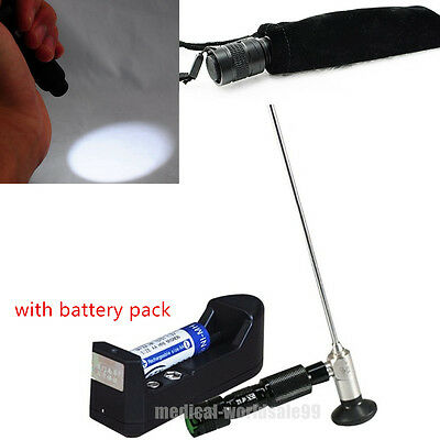 New Portable Handheld LED Cold Light Sources Lamp 10W for Endoscope+ 2Battery