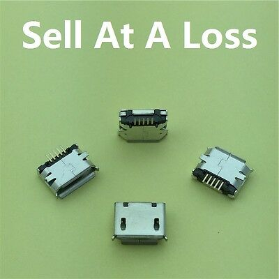 10pcs Micro USB 5pin Long Pin Female Socket G30 Connector Curly Mouth Type