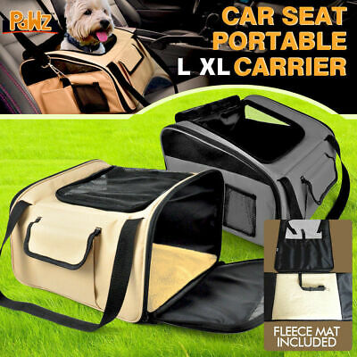Portable Pet Dog Cat Carrier Car Booster Seat Soft Cage Travel Bag
