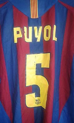 FC Barcelona Puyol camiseta futbol football shirt XL