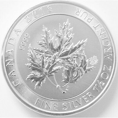 CANADA 8 Dollars Argent 1,5 Once Multi MapleLeaf 2016 - 1.5 Oz silver coin