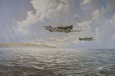 Reflections Of Peace Spitfire Print by Ron Lackenby