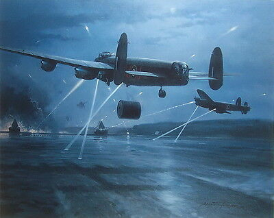 Dambusters Avro Lancaster 617 Squadron Aviation Art Print By Michael Turner