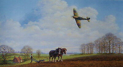 Veterans Supermarine Spitfire Print by Bill Perring
