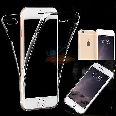 For iPhone 8/7 &7/8 Plus Ultra Thin Clear Transparent Full Cover Soft TPU Case