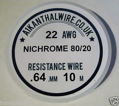 Competition Wire 22-30 AWG  Nichrome RDA RTA RBA Coil Nickel Chrome 80/20 SUB