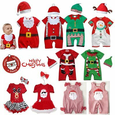 Baby Boy Girl First Christmas Summer Xmas Party Outfits Dress Costume Clothes