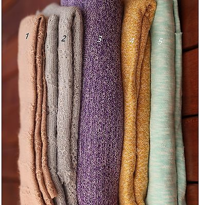 SALE Knit Texture Baby Posing Fabric Blanket Rug Newborn Backdrop Photo Prop