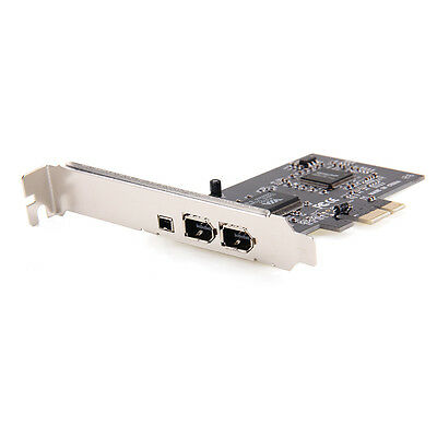 PCI-E FireWire Express 1394a IEEE1394 Expansion Controller Card for PC & Desktop