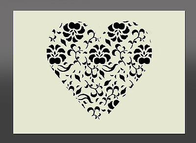 Heart Design Stencil - Various Sizes - Made From High Quality Mylar