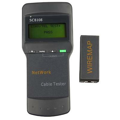 SC8108 RJ45 Network LAN Telephone Length Cable Tester 180 x 80 x 40 mm