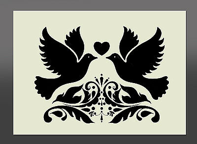 Wedding Doves Stencil - Various Sizes - Made From High Quality Mylar