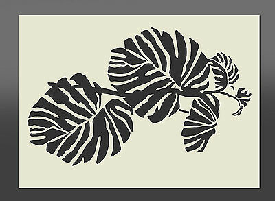 Rainforest Philoden Leaf Mylar Stencil - Various Sizes - Airbrushing, Craft