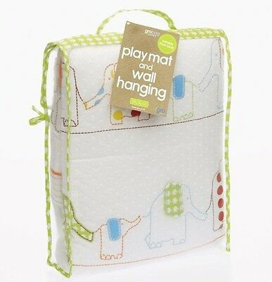 Gro Jolly Day Out 2 in 1 Play Mat & Wall Hanging From Birth New Baby Gift Elepha