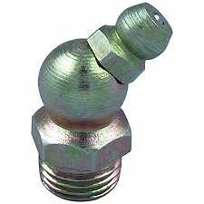 New Grease Nipple M8 x 1.25 45° Angle, Hydraulic, garage, workshop, Pack of 10