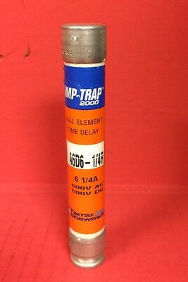 Ferraz Shawmut Amp-Trap 2000 Dual Element Time Delay A6D6-1/4R, 600V AC/DC