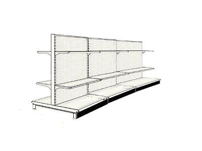 "36' Aisle Gondola For Convenience Store Shelving Used 54"" Tall 36"" W"