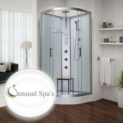 Sensual Spas Pure 800 white shower cabin Enclosure Cubicle Hydro 800 x 800