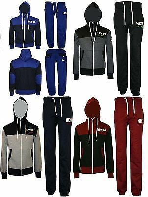 New Boys Girls Kids Fleece Tracksuit Top Jog Bottom Trouser Age 7 to 13 Year