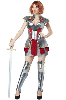 Heroic Joan of Arc Knight Medieval Warrior Woman Adult Costume