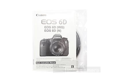 *New* Canon EOS 6D DSLR Digital Camera User's Manual, Basic Instruction Manual