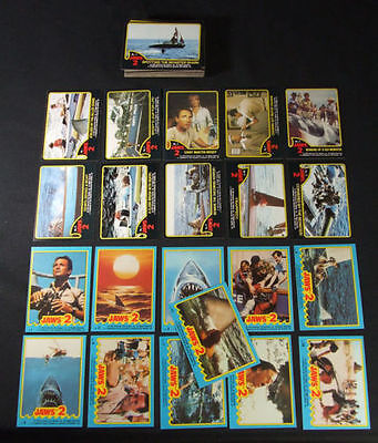 Jaws II - Movie (2) - Complete Trading Card Set (59+11) - 1978 TOPPS - NM