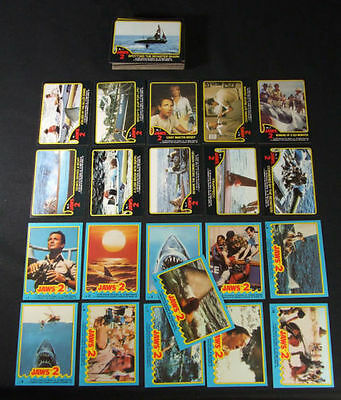 Jaws II - Movie (2) - Trading Card Set (59+11) - 1978 TOPPS - NM