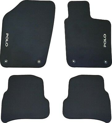 VOLKSWAGEN VW POLO CAR FLOOR MATS FRONT & REAR SET - 6R Series - 2010 to 2017
