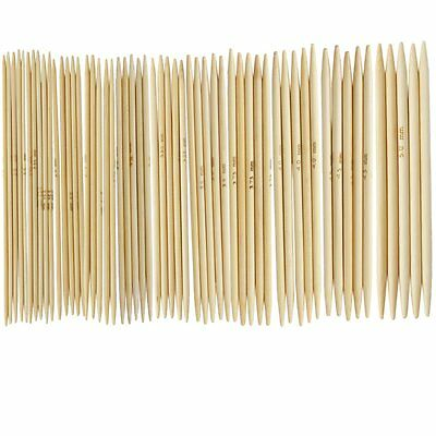 "11 Sets 4.9"" Bamboo Knitted Gloves Knitting Needles 2,0 - 5,0 mm US 0-8 LW"