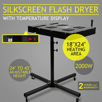 "18"" X 24"" Silkscreen Flash Dryer Curing 2000W Screen Printing Adjustable T-Shirt"