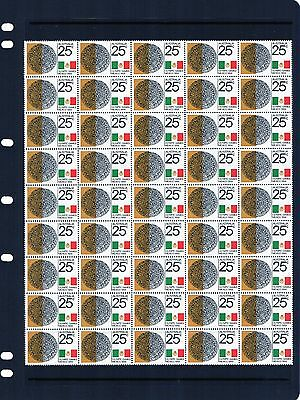 1968 Mexico Olympic Games 25c Large Block Of 45 Stamps Mint Never Hinged, Clean