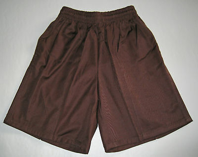 NEW school uniform shorts pants Brown size 5 to 16