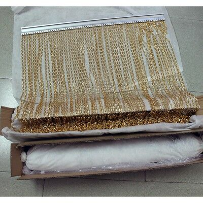 Aluminium Metal Chain Fly Pest Insect Door Screen Curtain, Gold