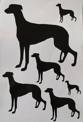 Greyhound vinyl stickers, decals, for car, window