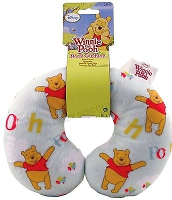 DISNEY Plush Soft Fabric NECK CUSHION Travel Pillow Baby Child | WINNIE the POOH