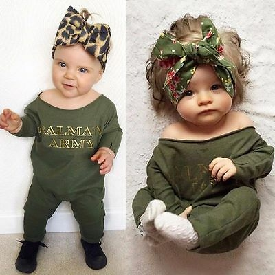 Newborn Baby Girls One-piece Clothes Long Sleeve Romper Bodysuit Jumpsuit Outfit