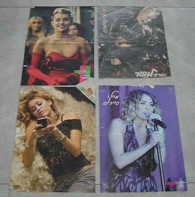 MILEY CYRUS Lot Of 4 Rare ISRAEL ISRAELI HUGE Original OFFICIAL MAGAZINE POSTERS