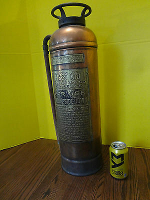 Antique/Vintage Copper W.D. Allen Mfg Co. First Aid Fire Extinguisher ~FAST S/H~