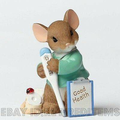 Your Caring Makes Me Feel Better CHARMING TAILS FIGURE Nurse Doctor Gift Enesco