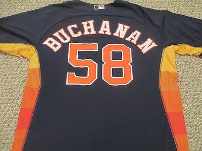 Jake Buchanan 2015 Astros Game Used Jersey SZ 48 #58 MLB authentication