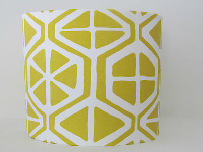 NEW Handmade Modern Vintage Retro 50s Citrus Lemon Geometric Lampshade