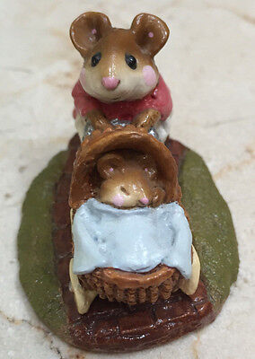 Wee Forest Folk - M128 - Strolling with Baby - Signed  by Annette Petersen (AP)