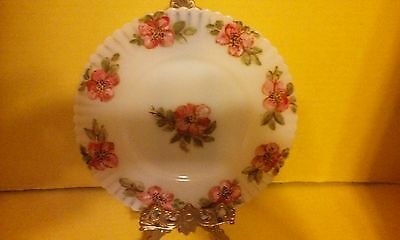 "Two 8"" Cremax Petalware Hand Enameled Painted Cherry Blossom Plates"