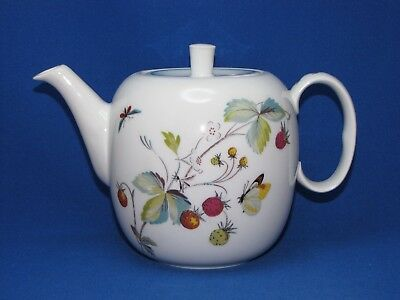 Strawberry Fair Tea Set, Royal Worcester Oven To Table 9 Pcs