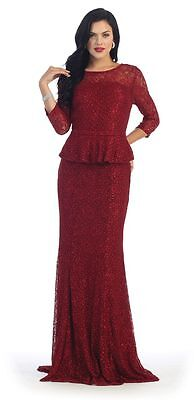 LONG MOTHER OF the Bride Dresses Plus Size Formal Evening Gown ...