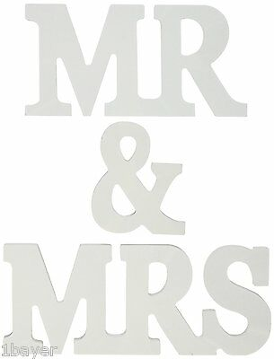 MR & MRS Wooden Letters Wedding Decoration / Present Luck
