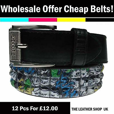 Wholesale Cheap Job Lot 12 Pcs Assorted Mix Sizes Mens Womens Fashion Belt PF10