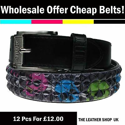 Bullet69 Brand New Wholesale JobLot Mix Assorted Sizes Fashion Studded Belt PF13