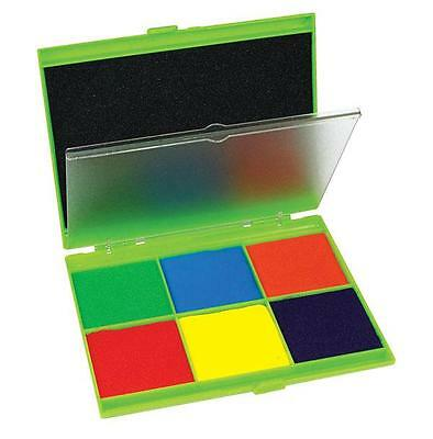 Jumbo Stamp Pad 7 Colours 13x16cm Teacher Math Resource Primary Kids Learning